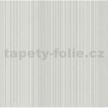 Vliesové tapety na stenu Collection 2 jemné prúžky sivé