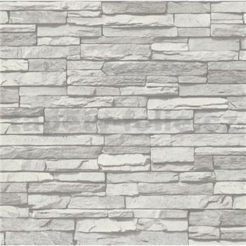Vliesové tapety na stenu kameň ukladaný sivý POSLEDNÉ KUSY