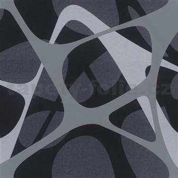 Luxusné vliesové tapety Zaha Hadid 3D design sivo-čierny-fialový POSLEDNÉ KUSY