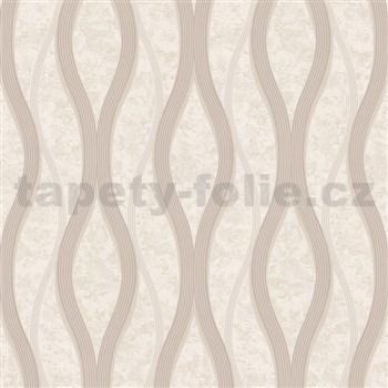 Vliesové tapety na stenu vlnovky hnedé