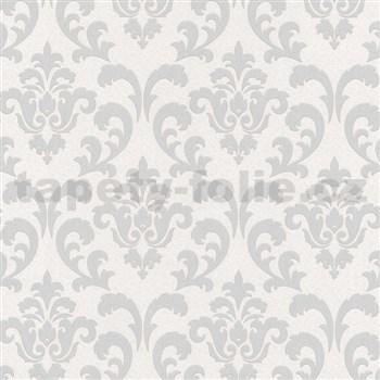 Vliesové tapety na stenu zámocký vzor strieborný