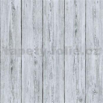 Luxusné vliesové tapety na stenu IMPOL TRADE Attitude drevené dosky sivé
