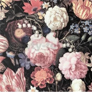 Vliesové tapety na stenu velké farebná kvety