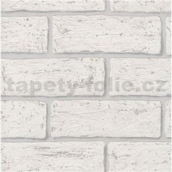 Vliesové tapety na stenu tehla biela