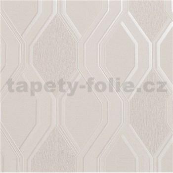 Vinylové tapety na stenu geometrický vzor svetlo hnedý