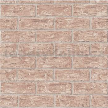 Vliesové tapety na stenu tehly červené