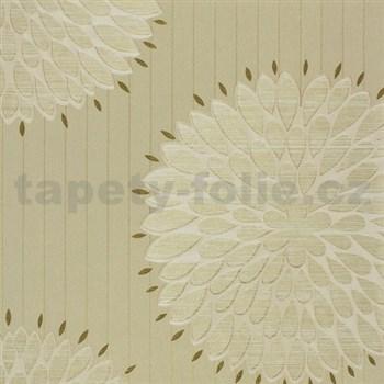 Luxusné tapety na stenu Da Milano - kvety hnedé 10,05 m x 1,06 m PROFI ROLE