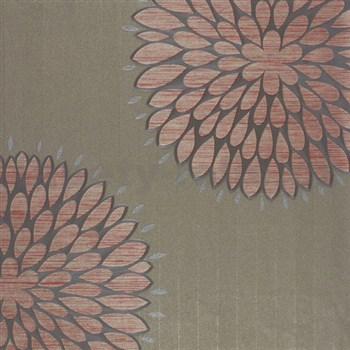 Luxusné tapety na stenu Da Milano - kvety červené 10,05 m x 1,06 m PROFI ROLE