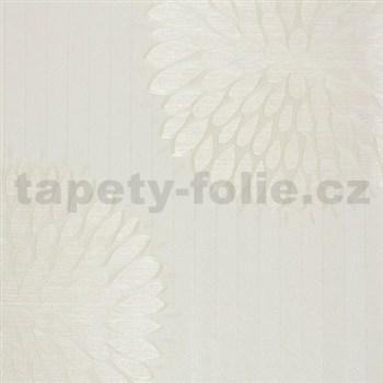 Luxusné tapety na stenu Da Milano - kvety svetlo hnedé 10,05 m x 1,06 m PROFI ROLE