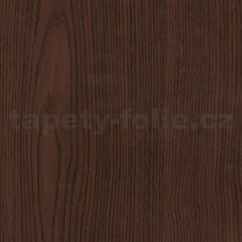 Samolepiace tapety d-c-fix - tmavá gaštanová hnedá 45 cm x 15 m