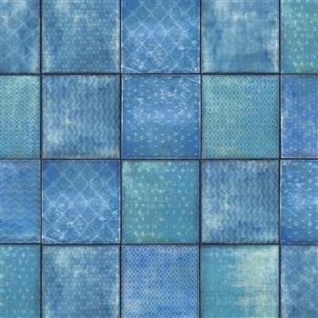 Samolepiaca fólia d-c-fix štvorce modré - 45 cm x 1,5 m (cena za kus)