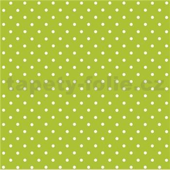 Samolepiaca tapeta bodky zelené  - 45 cm x 2 m (cena za kus)