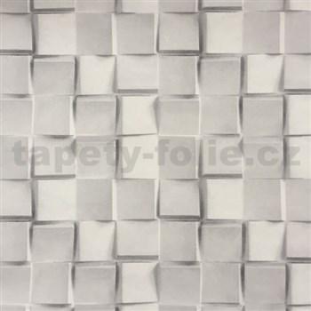 Vliesové tapety na stenu 3D mozaika kociek sivá