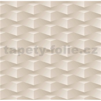 Papierové tapety na stenu 3D kocky hnedé