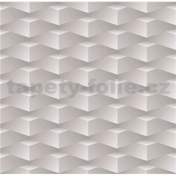 Papierové tapety na stenu 3D kocky sivé