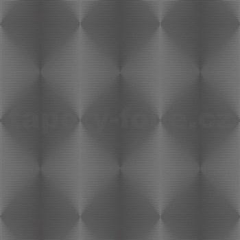 Vliesové tapety na stenu PRISME 3D abstrakt moderný strieborno-čierny