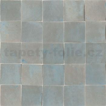 Vliesové tapety na stenu Nubia mozaika metalická sivo-modro-hnedá