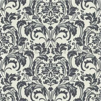 Luxusné vliesové tapety na stenu G.M.Kretschmer Deluxe zámocký zámocký vzor strieborný
