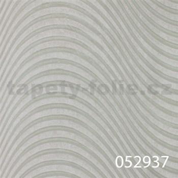 Tapety na stenu Andante Pria - vlnovky svetlozelené