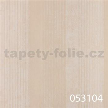 Tapety na stenu La Veneziana - pruhy krémové s metalickým efektom