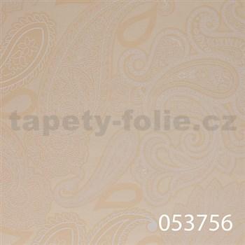 Tapety na stenu Ginas - kašmírový vzor svetlo béžový - POSLEDNÝ KUS