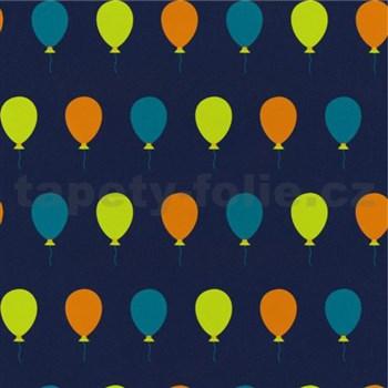 Tapety na stenu Die Maus farebné balóniky na modrom podklade - POSLEDNÉ KUSY