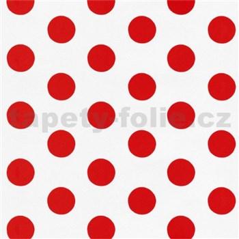 Tapety na stenu Die Maus bodky červené na bielom podklade