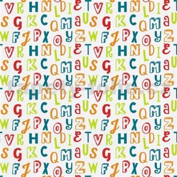 Tapety na stenu Die Maus farebná písmená na bielom podklade