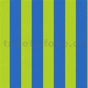 Tapety na stenu Die Maus pruhy modro-zelené
