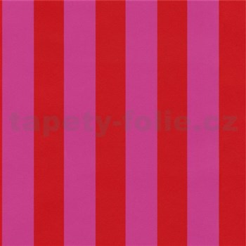 Tapety na stenu Die Maus pruhy červeno-ružové