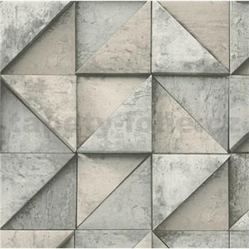 Vliesové tapety na stenu Daniel Hechter 4 geometrický vzor 3D hnedý