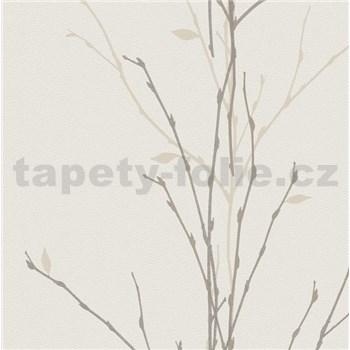 Vliesové tapety na stenu Gina vetvičky hnedé