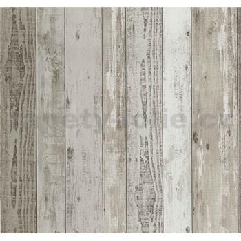Vliesové tapety Einfach Shöner drevené dosky hnedé