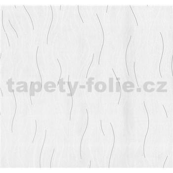 Vliesové tapety na stenu Einfach Schoner vlnovky bielo-sivé sa leskom