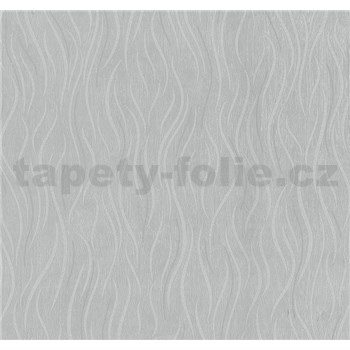 Vliesové tapety na stenu Einfach Schoner vlnovky sivé s leskom