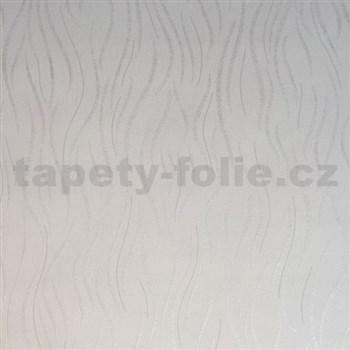 Vliesové tapety na stenu Einfach Schoner vlnovky biele s jemným ligotom
