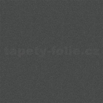 Vliesové tapety na stenu Ella textilná štruktúra čierna s trblietkami