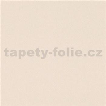 Vliesové tapety na stenu Ella textilná štruktúra krémová s trblietkami
