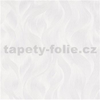 Vliesové tapety na stenu Elle Decoration vlnovky krémovo biele