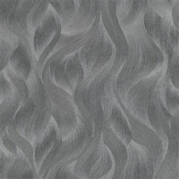 Vliesové tapety na stenu Elle Decoration vlnovky tmavo sivé