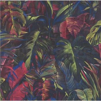 Vliesové tapety IMPOL Instawalls 2 veľké listy modro-červené