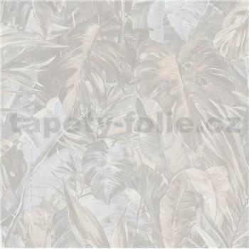 Vliesové tapety IMPOL Instawalls 2 veľké listy svetlo hnedé
