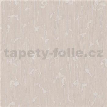 Vliesové tapety na stenu IMPOL Paradisio 2 florálny vzor strieborný na krémovom podklade