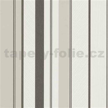Vliesové tapety na stenu IMPOL Wall We Love pruhy štruktúrované čierno-sivo-biele