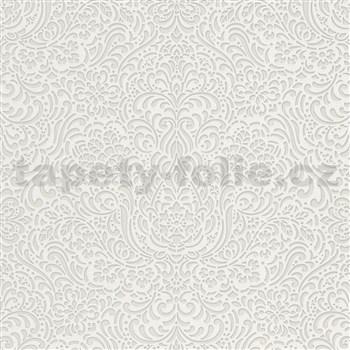 Vliesové tapety na stenu Modern Classics lesklý ornamentálny vzor sivý