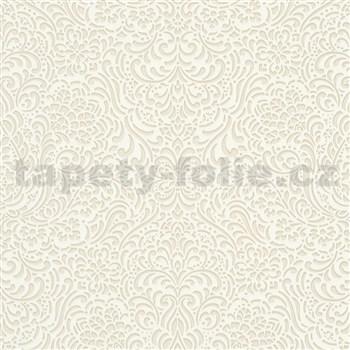 Vliesové tapety na stenu Modern Classics lesklý ornamentálny vzor krémový