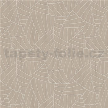 Vliesové tapety na stenu Graphics & Basics linky strieborné na hnedom podklade