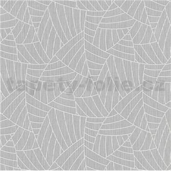 Vliesové tapety na stenu Graphics & Basics linky strieborné na sivom podklade