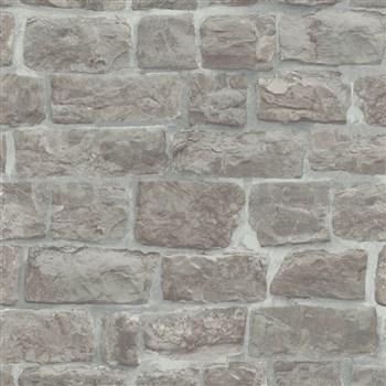 Vliesové tapety na stenu Eyecatcher kamenná stena hnedo-sivá
