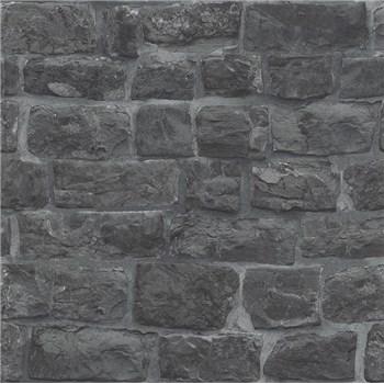 Vliesové tapety na stenu Eyecatcher kamenná stena tmavo sivá